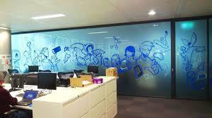 office graffiti wall. Graffiti Mural Wall Office I