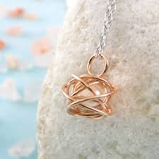 rose gold cage pendant necklace