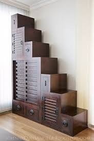 diy japanese furniture. Tansu Step Chest - Tiny House Stairs And Storage In One : Johnnieandangela --- Pp: Love The Dark, Rich, Wooden, Old World Furniture Effect. Diy Japanese