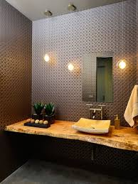 powder room mid sized contemporary concrete floor powder room idea in other with a