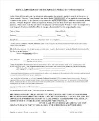 release of medical information template authorization for release of medical records template sample letter