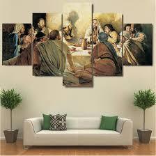 last supper hq 5 piece art canvas print on large last supper wall art with last supper hq 5 piece art canvas print dinning room art