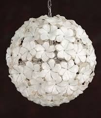 round white and clear venetian murano glass chandelier with fl design and chrome trim this
