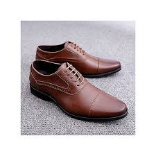 men formal shoes genuine leather oxfords derby shoes brown