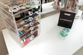 ... Large norme 7 Tier Cutie Cube Clear Acrylic Makeup Organizer Box w/  Flip Top Storage ...