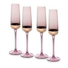 boja set of four gold foil champagne flutes