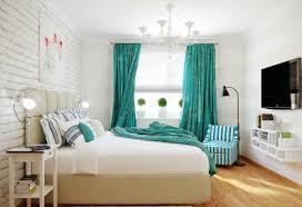 Türkise Vorhänge Frische Farbe Im Raum Freshouse