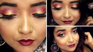 fall makeup tutorial 3 plum gold eye makeup indian wedding guest makeup tutorial