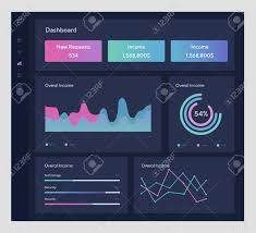 Daily Stock Charts Free Infographic Template With Flat Design Daily Statistics Graphs