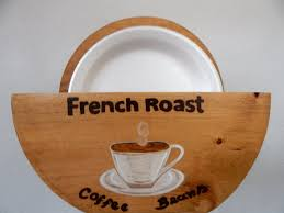 paper plate holder wood paper plate holder coffee themed