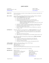resume project manager resume entry level