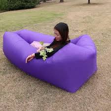 Lounger Inflatable Couch Air Chair Sofa with <b>Portable Storage Bag</b> ...