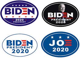 Amazon.com: 4 pcs Signs Car Magnet Joe Biden for President 2020 - Magnetic  Bumper Sticker Oval (6