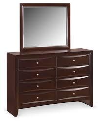 Braden Dresser and Mirror - Merlot