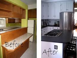 Small Kitchen Makovers Design Tiny Budget. Small Kitchen Remodel Before  After