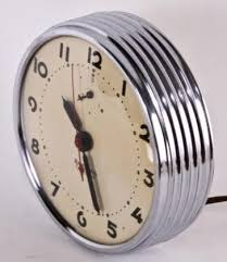 1930 s antique machine age art deco style round chrome wall clock on art deco wall clock antique with c 1930 s antique machine age art deco style round chrome wall clock