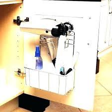 wall mount hair appliance holder organizer dryer salon tool
