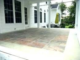 porch flooring ideas stone patio