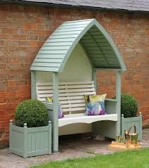 wooden outdoor furniture painted. Lifestyle Cream Sage Arbour Wooden Outdoor Furniture Painted T