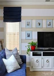 add pattern and color to your walls in an easy and temporary way with easy stripes