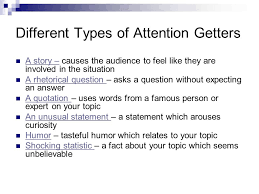 elements of an essay ppt video online  different types of attention getters