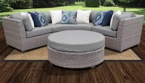 grey florence 4 piece outdoor wicker patio furniture set 04a tk classics