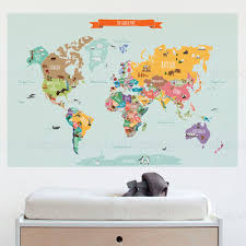 Small Picture SimpleShapes Countries of the World Map Poster Wall Decal