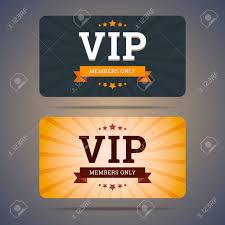 Club Card Design Vip Club Card Design Templates In Flat Style Vector Illustration 18