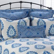 delectably yours decor alcott blue paisley bedding pillows and shams by victor mill