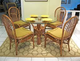 savannah 42 round natural rattan dining sets teawash