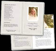 Sample Funeral Service Programs