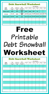 Debt Tracker Spreadsheet Free Debt Tracker Spreadsheet Printable Snowball Worksheet Pay Down