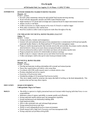 Bond Trader Resume Samples Velvet Jobs