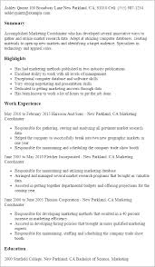 Resume Templates: Marketing Coordinator