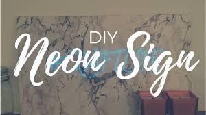 diy neon sign easy
