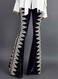 Bell Bottom Pajama Design High Waist Velvet Bell Bottom Pants Insboho