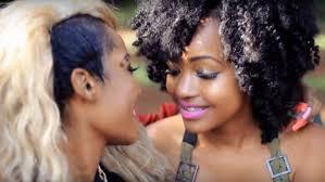Free ebony lesbian clip
