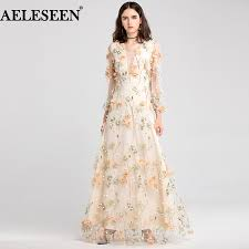 2018 Designer Gown Us 127 6 20 Off Aeleseen Luxury Designer Party Dress 2018 Bride Simple Bridal Gown Maxi Long Dress Appliques Embroidery Sexy Dress Vestido In