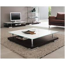coffe table square coffee with glass top safeti within large center storage and low dr chrome
