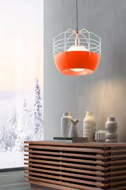 modern furniture and lighting. frost white u0026 orange ceiling lamp modern lightinglighting furniture and lighting