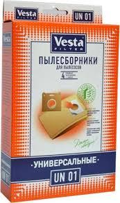 <b>Vesta</b> filter UN 01 <b>комплект пылесборников</b> универсальный, 4 шт