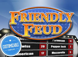 Customizable Friendly Feud Powerpoint Template Family Feud Style Game Show Mac Pc And Ipad Compatible