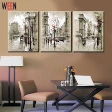 canvas printings retro city street landscape 3 piece modern style cheap pictures decorative wall art no frame prints gift in painting calligraphy from  on 3 piece framed wall art for sale with canvas printings retro city street landscape 3 piece modern style
