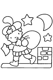 Kleurplaat Zwarte Piet Op Het Dak 1 Crafts Knutselen