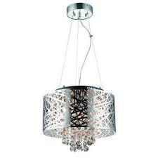 6 light chrome medium helix chandelier decor living