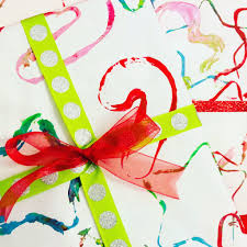 cookie cutter painting gift wrap
