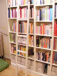 ... Interesting Library Ladder Ikea Bookcase With Library Ladder White Library  Ladder With Books: ...