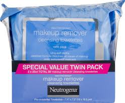 neutrogena makeup remover cleansing face wipes 25 sheets pack of 2 walmart