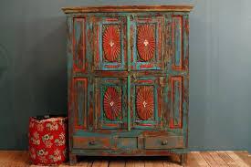 antique distressed furniture. Anniversary Sale Antique Distressed Multi Color Blue Red Furniture ,