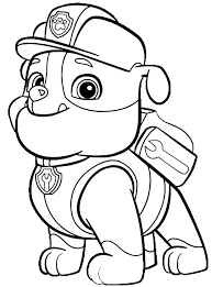 Paw Patrol Rubble Coloring Page From